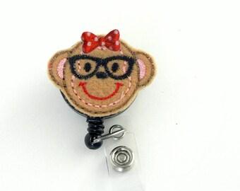 Nurse Badge Reel |  Geeky Monkey Felt Badge Reel | Badge Reel | Felt Applique | Retractable ID Badge Holder | Nurse  Badge Reel | CNA Reel