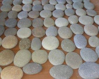 "70 Smooth Beach Stones 2  1/2"" - 3""  Wedding,Painting, Crafts, Decor"