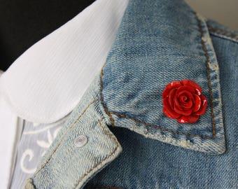 Red Rose Lapel Pin (large)