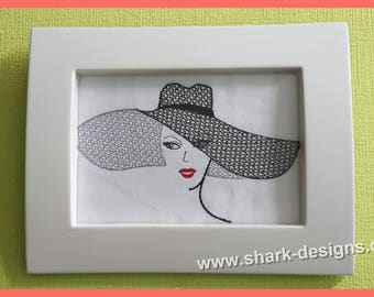Embroidery file Lydia-13x18 and 20x26, machine embroidery, embroidery pattern,