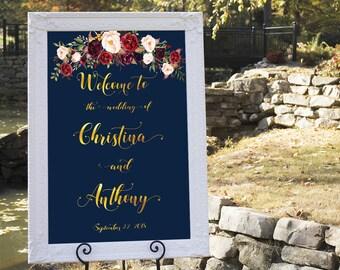 Welcome wedding sign, Wedding welcome sign, Wedding welcome sign poster, Welcome sign wedding, Printable wedding welcome sign, #29