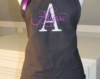 Monogrammed Apron with Letter and Name -  Makes Perfect Gift  - Personalized Apron - Embroidered Apron