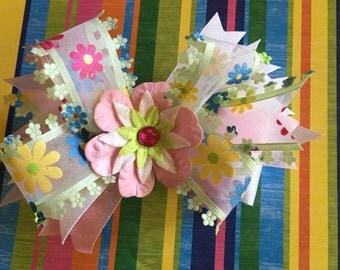 Flower Girls hair bows,Flower Birthday bows, Wedding hair accessories,Church hair accessories,School hair accessories,Floral hair bows