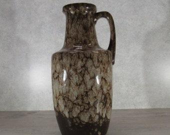 VTG 1970s SCHEURICH Keramik 404-26 Vase Mocca Decor West German Pottery Fat Lava Era Midcentury Modern (Listing A)