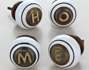 Copper Monogram Knobs 4669