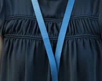 FREE SHIPPING Lanyard/Badge Holder - Blue-Dark Teal Leather