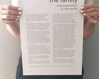 Family Proclamation instant download