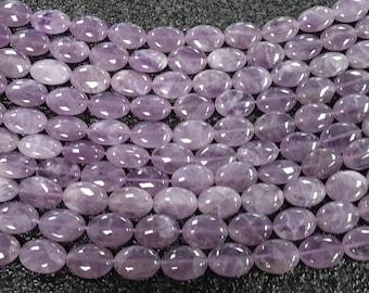 Amethyst strand (oval 13mmx18mm)
