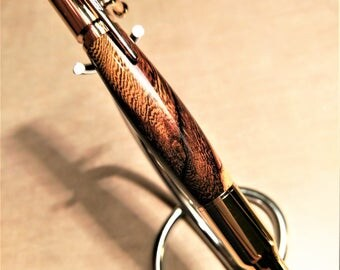 Hawaiian Pheasant Wood 30 Caliber Bolt Action Wood Pen - Executive Exotics - Custom Hand Turned Exotic Wooden Ballpoint Bolt Action Pen