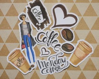 Coffee Love Ephemera/Die Cut Pack