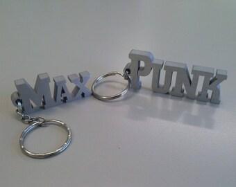 Portachiavi con il tuo nome. Ottieni un oggetto personalizzato, unico e originale. In alluminio (vedi dettagli)