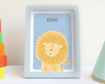 Lion Roar - Art print - printable nursery decor