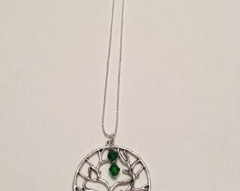 Green Eternal Tree Necklace