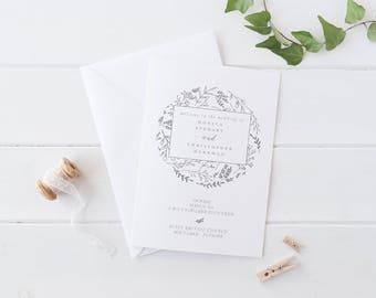Foldable Wedding Program Template Modern Wedding Program Template  Wedding Program Printable Wedding Ceremony Template Rustic Elegant Folded