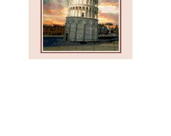 Leaning Tower of Pisa Cross Stitch Chart