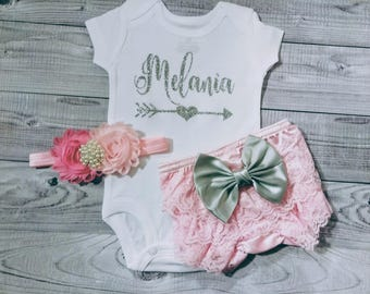 newborn girl outfit, newborn girl coming home outfit, personalized, name, baby girl, baby girl outfit, baby girl coming home outfit, infant