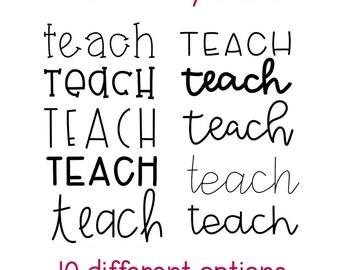 Teach Vinyl Decal | Teacher Vinyl | Laptop Decal | Vinyl Decal | Teacher Gift