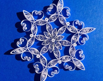 "Quilled Snowflake Ornament - 3"" diameter"