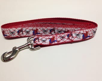 Red Spiderman Inspired Dog Leash, Red Leash, Spiderman Inspired Leash, Heavy Duty Leash, Dog Leash