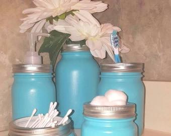 Bathroom Jar Set bathroom jar | etsy