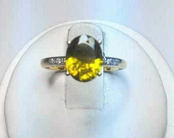 Floresta Apatita & Diamond 10k Gold Ring