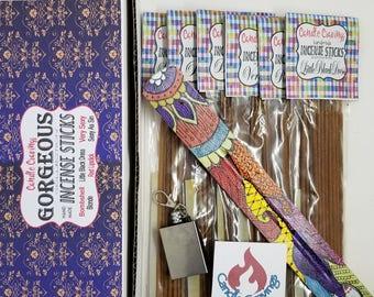 Incense, Incense Sticks, Incense Gift Set, Incense Burner, Meditation Gift Set, Incense Holder, 6 Pack Variety 120 Sticks Gorgeous Gift Set