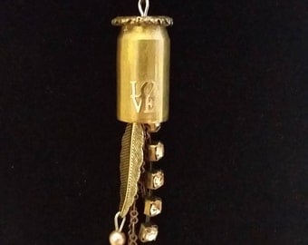 Necklace with .45 Caliber Bullet Casing Pendent