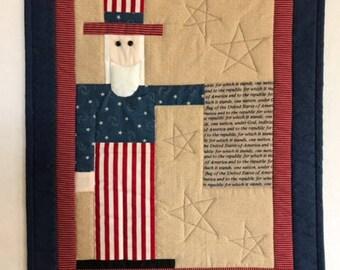 Uncle Sam with Pledge (Fiber Art)