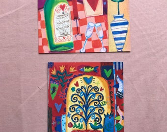 Heartwarming Anniversary Cards by Roger la Borde and Palazzo set of 2