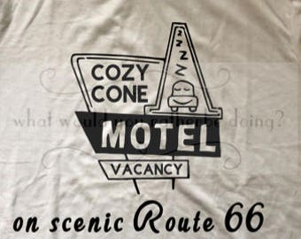Disney Cars Cozy Cone Motel mens t-shirt Disney World Disneyland matching family shirts