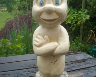 1930s Belgian Plaster Statue of Casper (The Friendly Ghost)