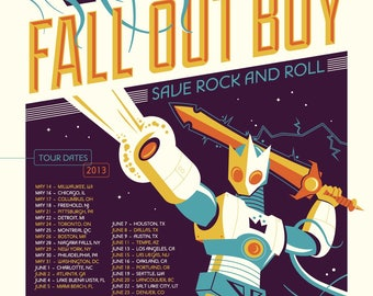 Fall Out Boy concert poster
