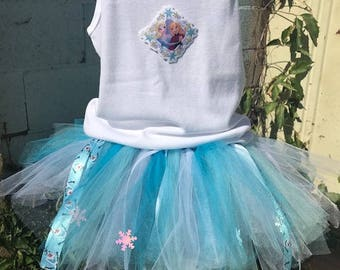 Frozen tutu elsa tutu snow queen tutu Frozen outfit Frozen birthday party elsa dress  christmas gift frozen birthday outfit