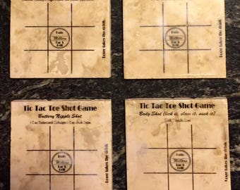 Personalized Tic Tac Toe Shotter coasters (set of 4)
