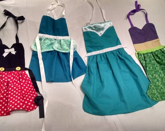 Princess Inspired Dress Up Aprons for Kids