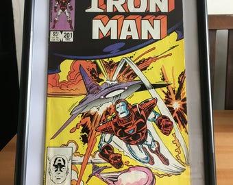 Original Framed Iron Man Comic November 1983