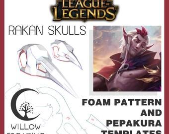 Rakan skulls pattern kit - Rakan, League of Legends