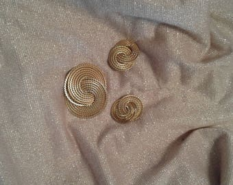 Napier Pin and Earring Set