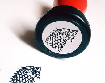 House Stark Sigil Self-Inking Stamp - Game of Thrones (GOT) Wolf!
