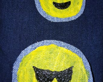 Emoji denim patch set