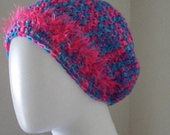 Hat / Crochet / Slouchy Hat / Women Hat / Gift / Hippy / Artist
