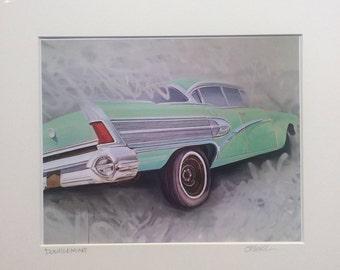 Classic car print, giclee print
