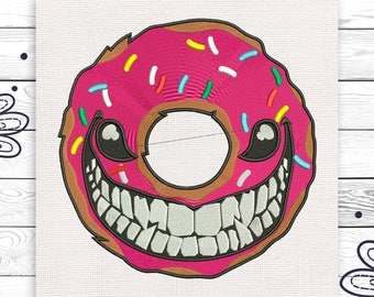 Donut embroidery Discount 10% Digital machine embroidery design 4 sizes INSTANT DOWNLOAD EE5088