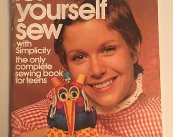Vintage Let yourself sew magazine 1972