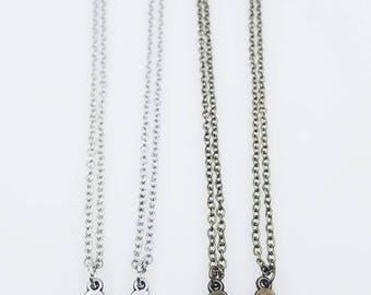 Friendship necklace,friendship gift,best friend puzzle necklace,best friend necklace, puzzle necklace,best friend gift,best friend jewelry
