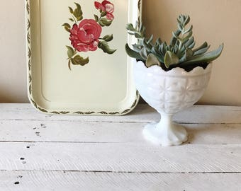 Vintage Floral Tray || Handpainted Decorative Tray