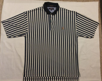 Vintage Tommy Hilfiger Striped Golf Polo