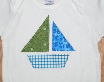 Summer sailboat bodysuit
