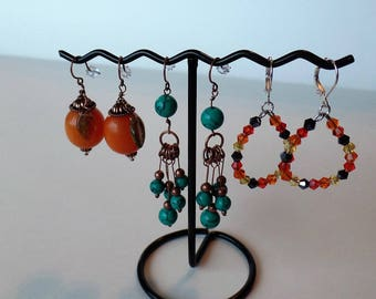 Fall Earrings in Three Styles