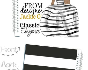 African American Planner Girl Cover, Stylish Planner Cover, Dark Skin Girl, Happy Planner Cover, Magazine Cover, Planner Cover, Cover Girl